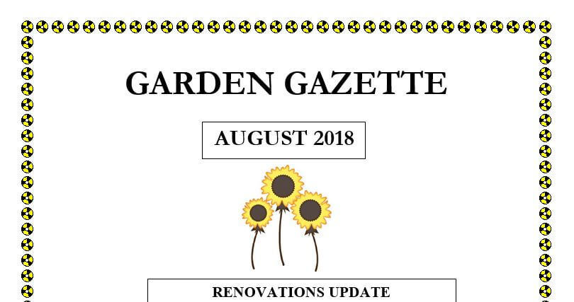Aug Garden Gazette