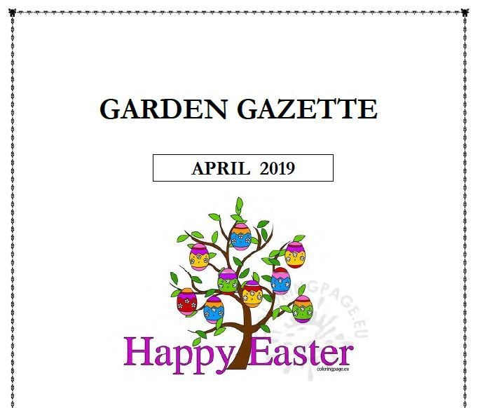Garden Gazzette Newsletter April front page
