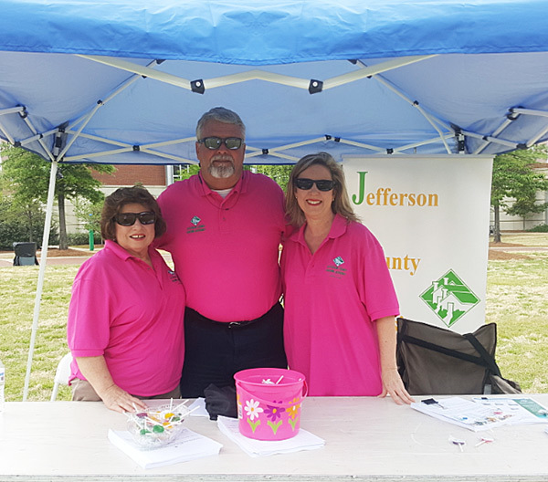 Pictured left to right: From Jefferson County Housing Authority (JCHA) Diane Clark - Director of HR, Ken Vaughan - Executive Director and Jamie Fitzwater